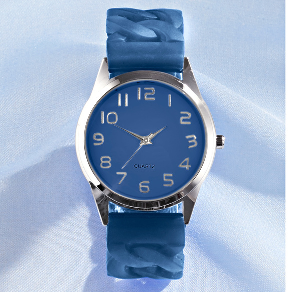 Stretch-Armbanduhr blau