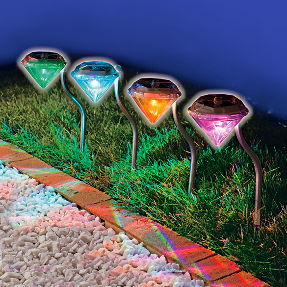 LED-Leuchtstäbe in Diamantform, 4er-Set
