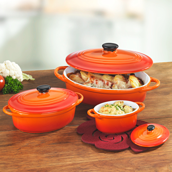 Keramiktöpfe 3er-Set