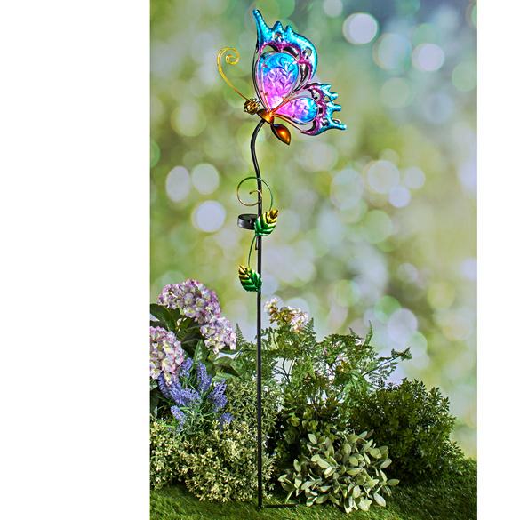 """Solarstecker """"Schmetterling"""" purple"""