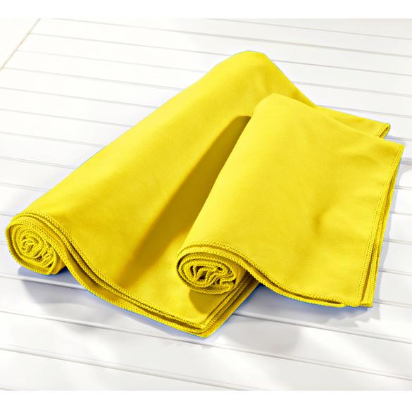 Mikrofaser-Badetuch gelb