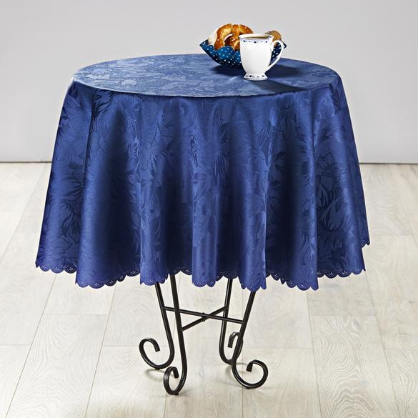 """Tischdecke """"Jacquard"""" blau,  Ø 160 cm"""