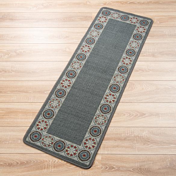 Teppich grau-anthrazit, 50 x 150 cm