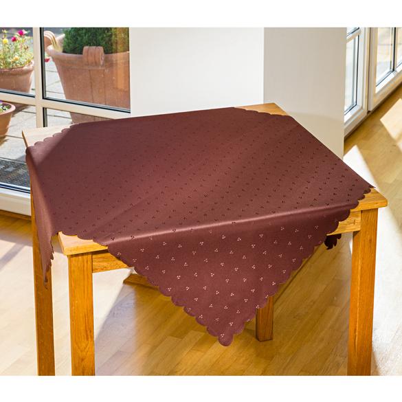Tischdecke braun, 90 x 90 cm