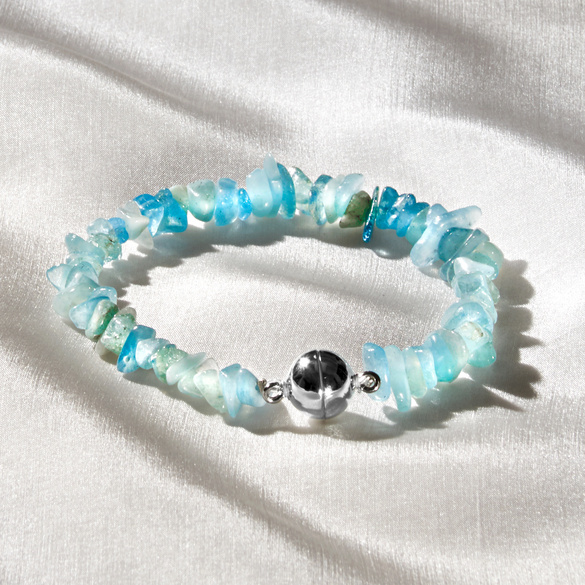 Aquamarin-Armband
