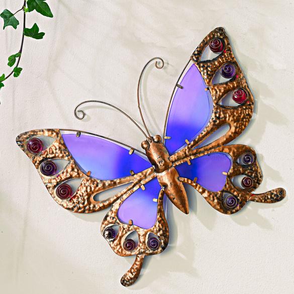 Deko-Schmetterling purpur, 39 cm