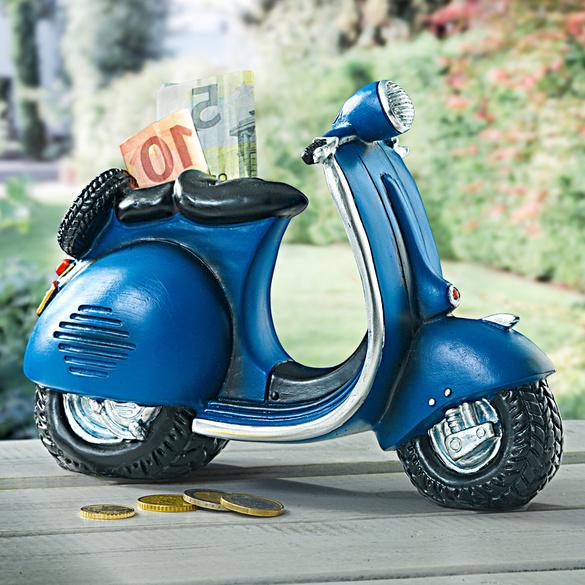 "Spardose ""Motorroller"" blau"