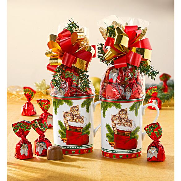 """Kaffeebecher """"Weihnachtskätzchen"""""""