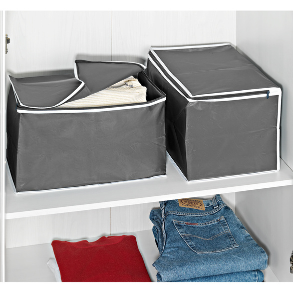 Ordnungsboxen grau, 2er-Set