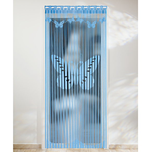 """Fadenvorhang """"Schmetterlinge"""" blau"""