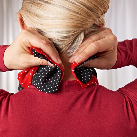 """Magnetschals """"Tupfen"""" schwarz + rot, 2er-Set"""
