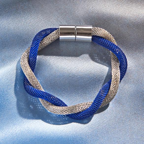 Armband blau-silberfarben