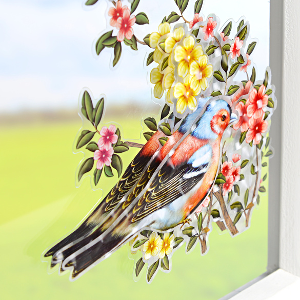"3D Fensterbild ""Blütenzauber"""