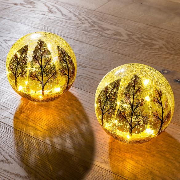 "LED-Glaskugel ""Goldener Herbst"""
