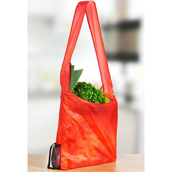 Aufrollbare Einkaufstasche rot