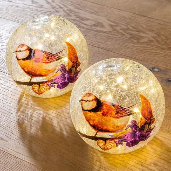 "LED-Glaskugel ""Herbstlaub"""