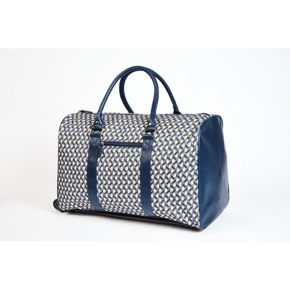"""Reisetasche """" Luxus à la Française"""" Blau-Champagner"""
