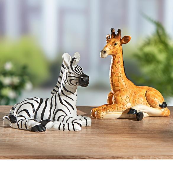 """Deko-Figuren """"Zebra & Giraffe"""", 2er-Set"""