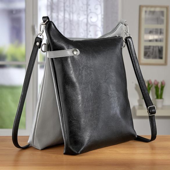 Tasche 2-in-1 schwarz + grau