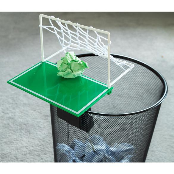 Fußballtor für Papierkörbe