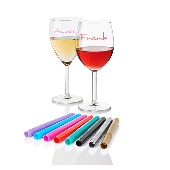 Glas-Markierungsstifte, 8er-Set