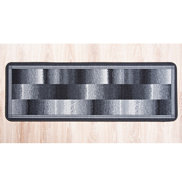 Teppich grau-weiss