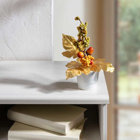 Herbst-Bouquet goldfarben