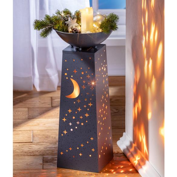 """LED-Pflanzsäule """"Mond & Sterne"""""""