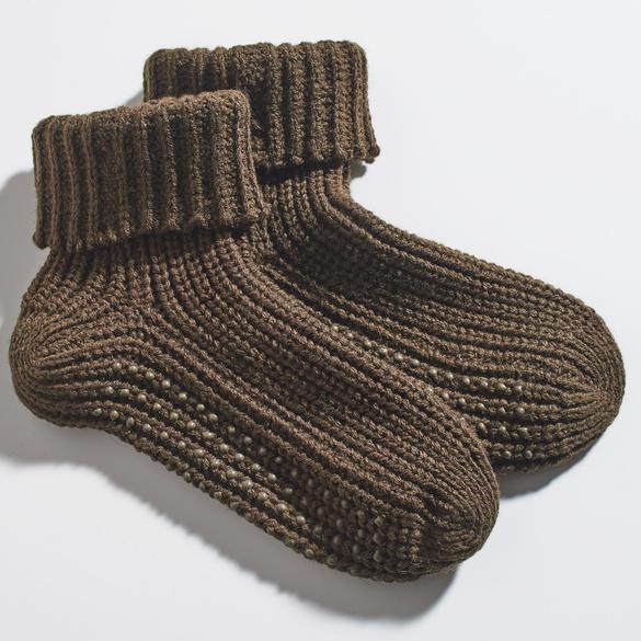 Thermo-Socken braun, 1 Paar