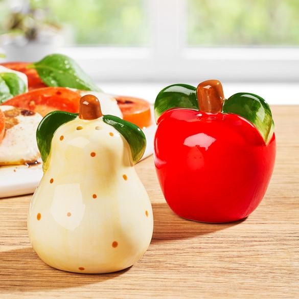 "Salz-/Pfefferstreuer ""Apfel + Birne"""