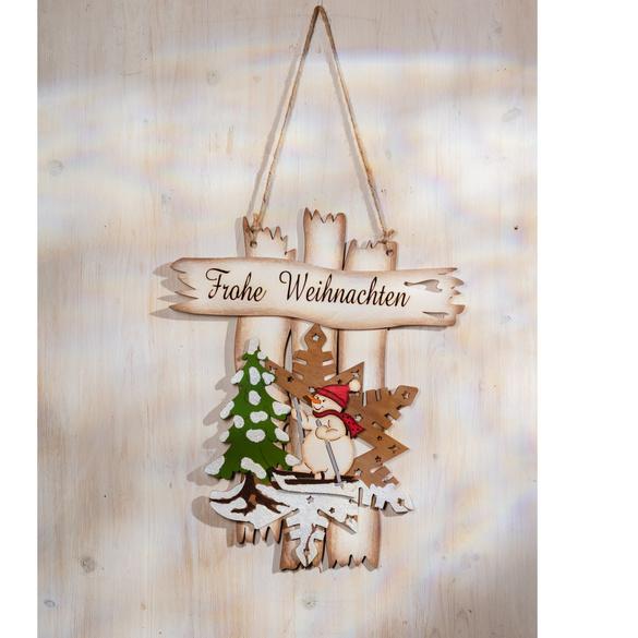 """Holzschild """"Frohe Weihnachten"""""""