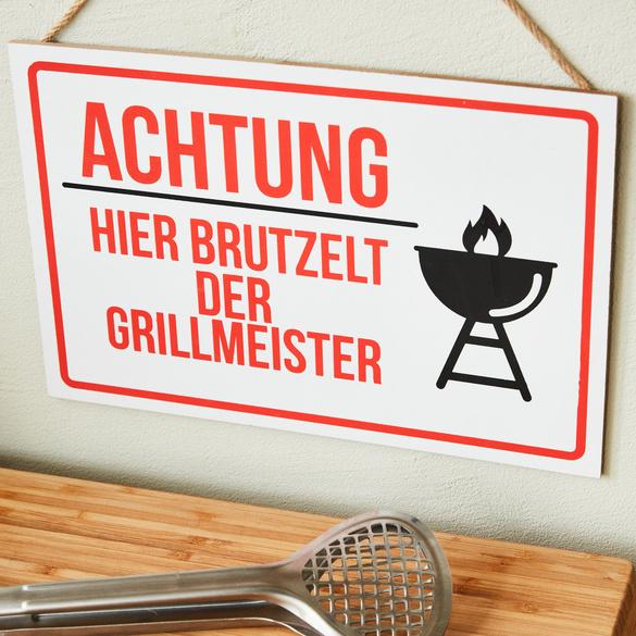 """Holzschild """"Grillmeister"""""""