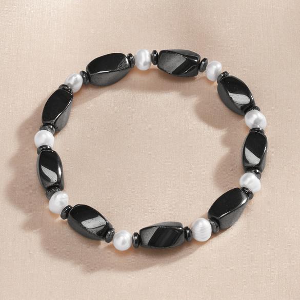 Hämatit-Armband mit Perlen