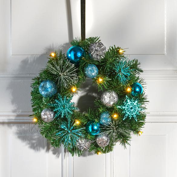 LED-Weihnachtskranz blau