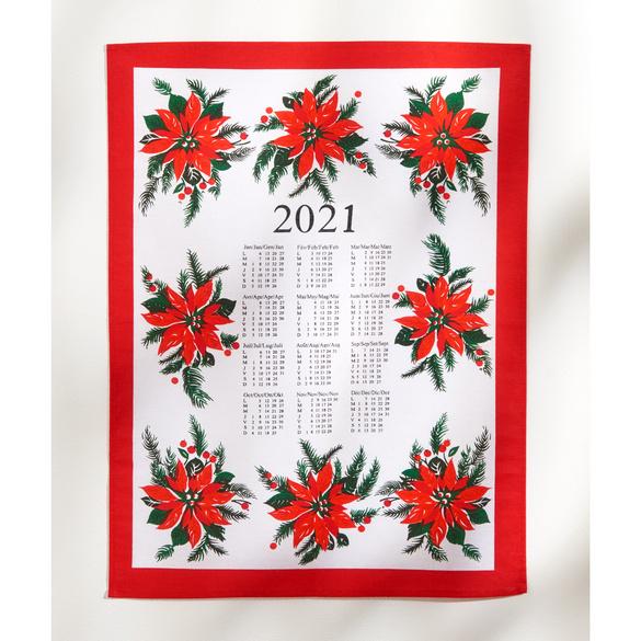 """Geschirrtuch-Kalender """"Weihnachtsstern"""" 2021"""