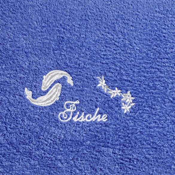 """Duschtuch """"Fische"""" blau"""