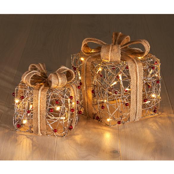 LED-Geschenkbox rotgold, klein
