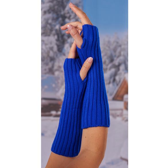 Armstulpen blau