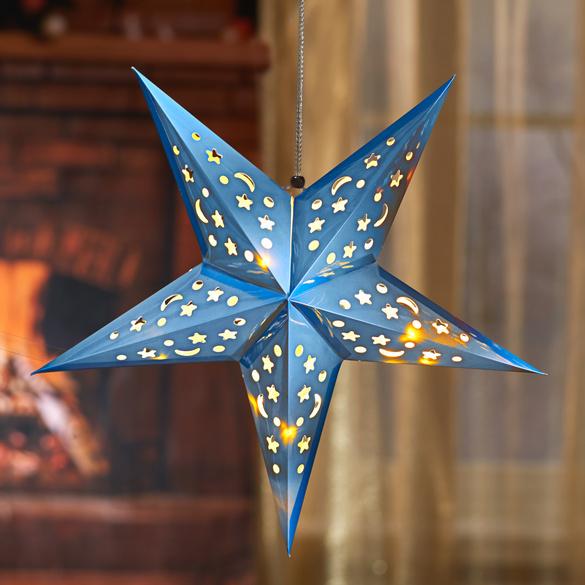 LED-Weihnachtsstern eisblau