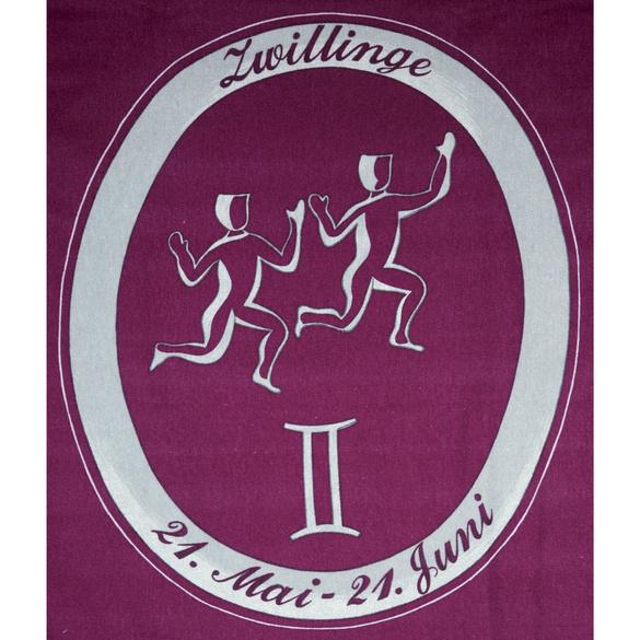 "Bettwäsche ""Zwilling"" bordeaux, 2-tlg."
