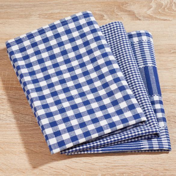 Geschirrtücher blau, 3er-Set