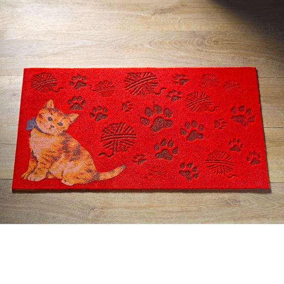 "Fußmatte ""Katze"" rot"