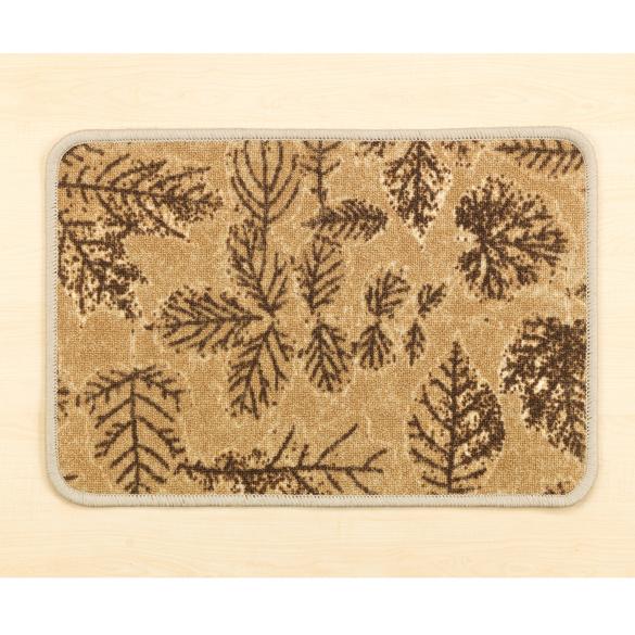 """Teppich """"Blätter"""" beige, 40 x 60 cm"""