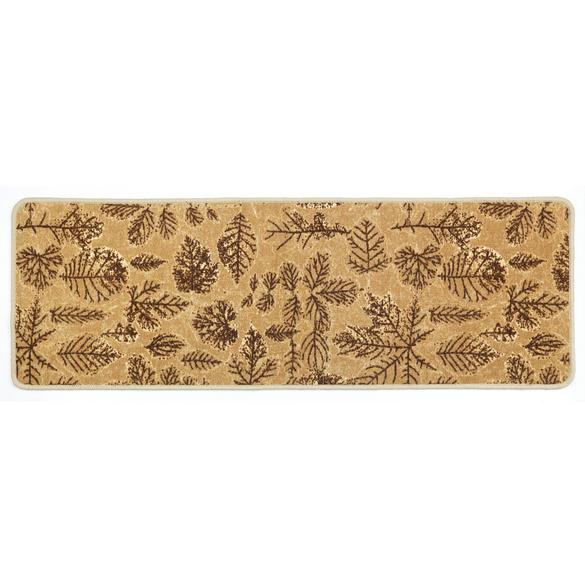 """Teppich """"Blätter"""" beige, 50 x 150 cm"""