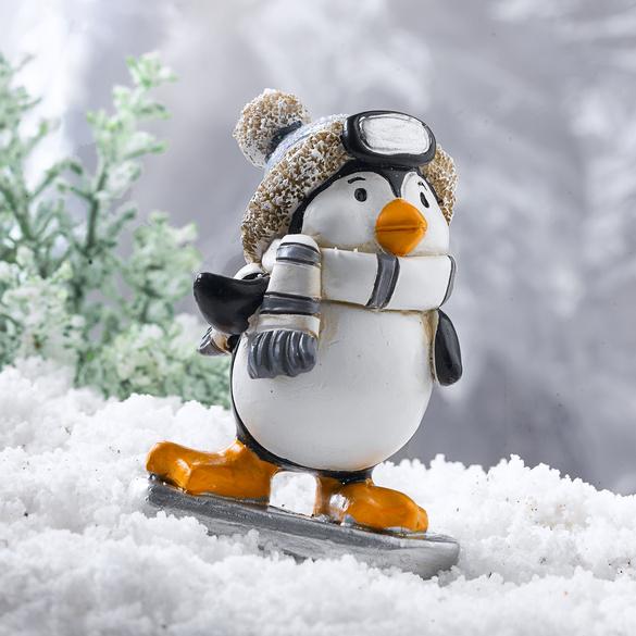 Pinguin auf Skiern
