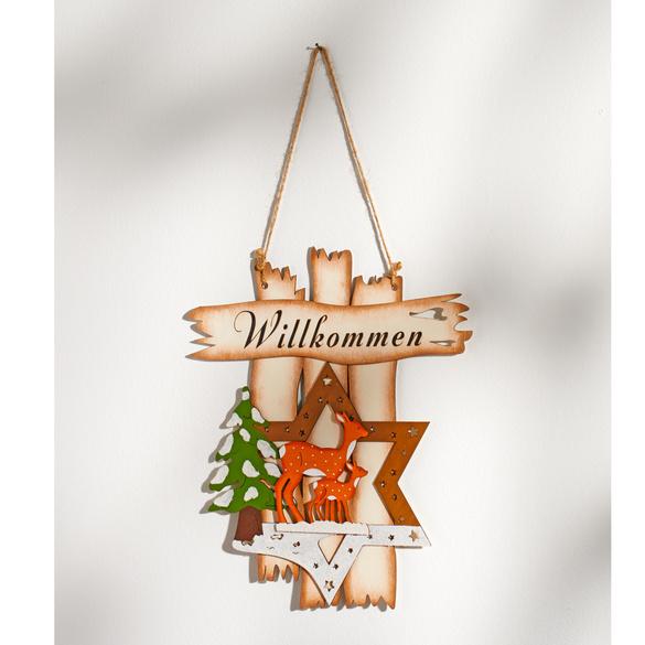 """Weihnachts-Türschild """"Willkommen"""""""