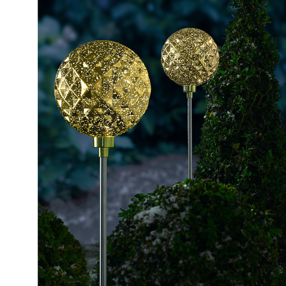 "LED-Gartenstecker ""Goldkugel"""