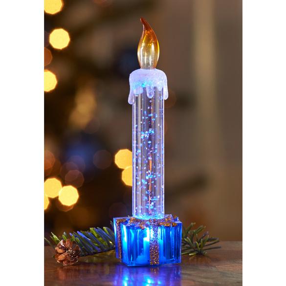 LED-Kerze blau