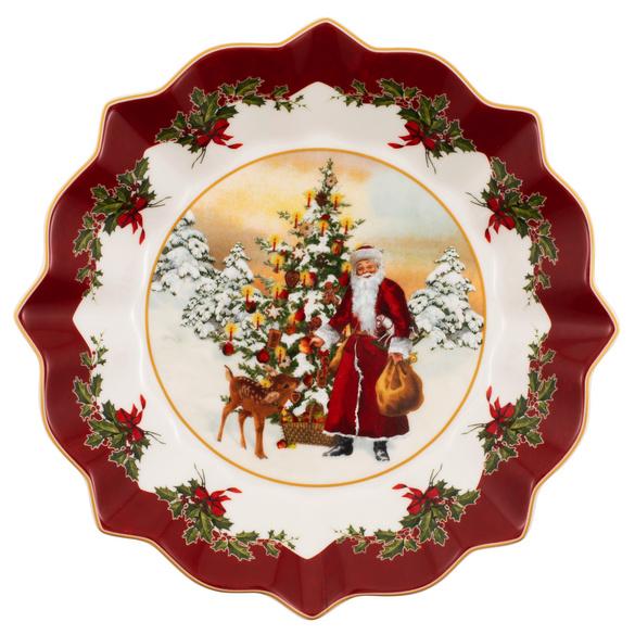 Dekoteller Weihnachtsmann