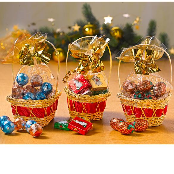 Weihnachtskörbchen-Trio, 3er-Set